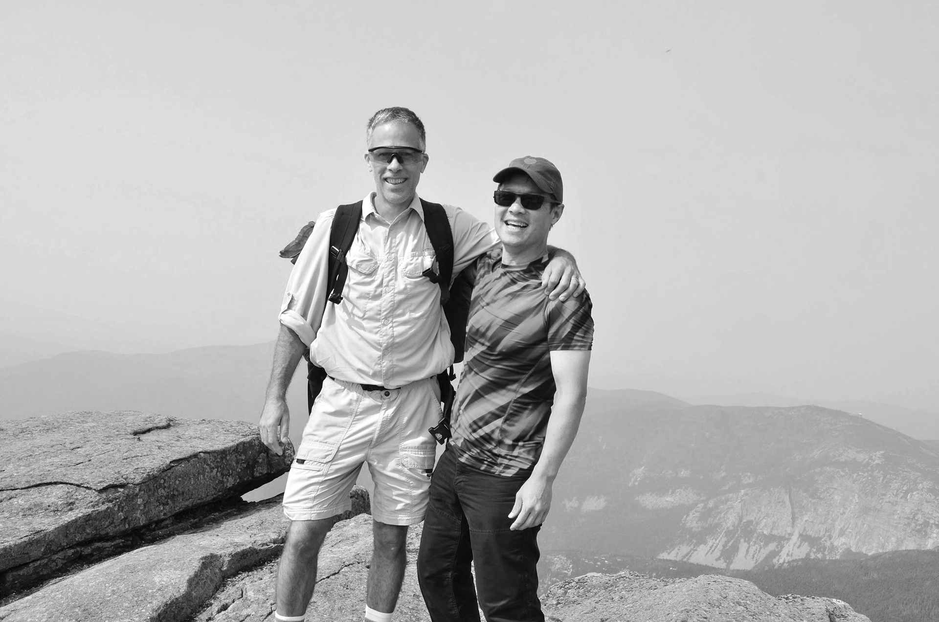 Tony and Andy on top of mountain in New Hampshire