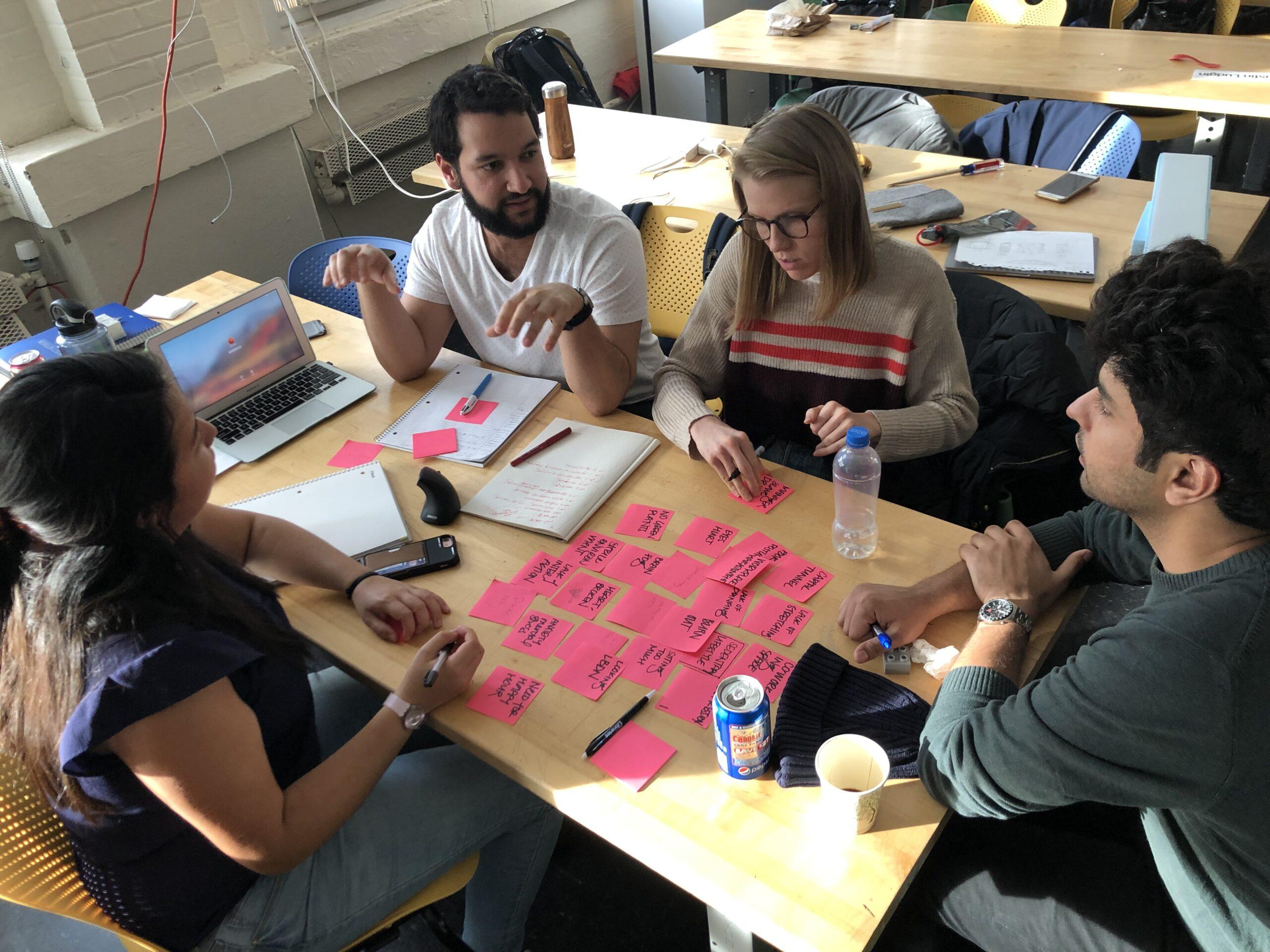 Team TBD processing ideas on post its